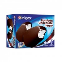 Helado bombón chocolate negro 4 uds. x 120 ml.